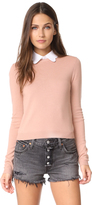 Alice + Olivia Dia Scallop Sweater