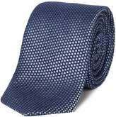 HUGO Geo Print Textured Silk Tie