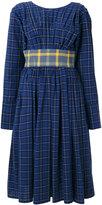 Natasha Zinko checkered dress - women - Cotton/Polyester - 36