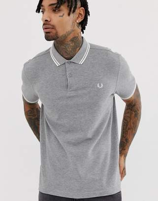 Fred Perry twin tipped polo in grey