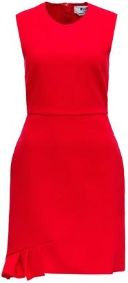 MSGM Pleated Detail Sleeveless Mini Dress