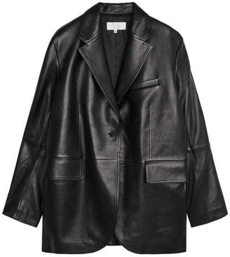 Arket Leather Blazer