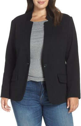 Gibson Inverted Notch Collar Cotton Blend Blazer
