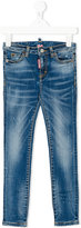 DSQUARED2 stonewashed skinny jeans - kids - Cotton/Spandex/Elastane - 4 yrs