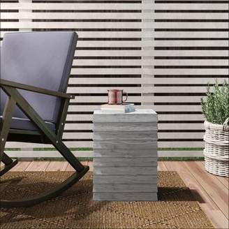 Conrad Plastic/Resin Side Table Union Rustic Color: Dolphin Gray