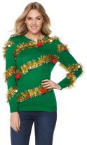 Lyric Culture Jingle Bell Rock Tinsel Sweater