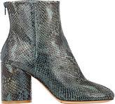 Maison Margiela Women's Cylindrical-Heel Ankle Boots-GREEN