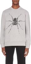 Lanvin Spider-beaded cotton-jersey sweatshirt