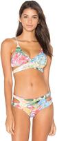 San Lorenzo Cut Out Wrap Bikini Top