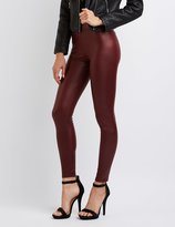 Charlotte Russe High-Rise Liquid Leggings