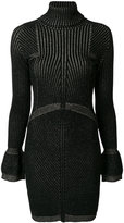 Just Cavalli roll-neck shimmer detail dress