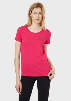Emporio Armani Ea7 Cotton Jersey T-Shirt With Logo
