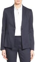 Elie Tahari &Darcy& Linen Blend One-Button Jacket