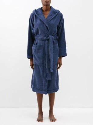 Tekla - Hooded Cotton-terry Bathrobe - Navy