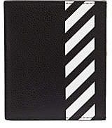 Off-White Men's Digaonal Stripe Leather Card Holder