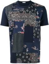 Moncler bandana patchwork t-shirt