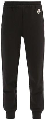 Moncler Logo-applique Cotton-blend Jersey Track Pants - Black