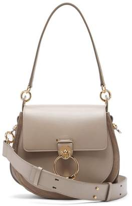Chloé Tess Small Leather Cross-body Bag - Womens - Grey