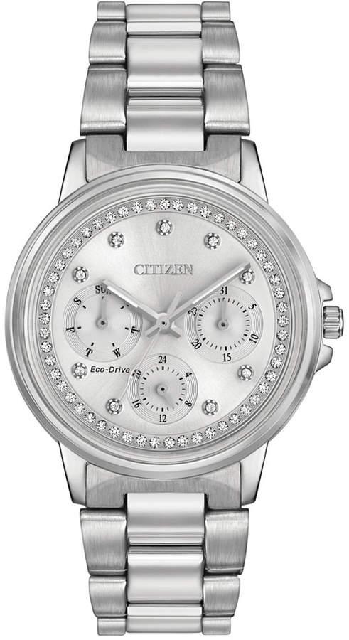 Citizen Women's Eco-Drive Nighthawk Stainless Steel Bracelet Watch 36mm FD2040-57A