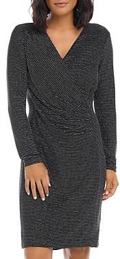Karen Kane Sparkle Faux Wrap Dress