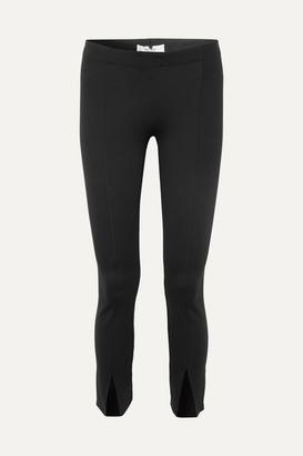 The Row Thilde Stretch-cady Straight-leg Pants - Black