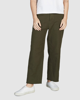 Quiksilver Womens Flared Cropped Linen Trousers
