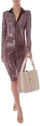 Bottega Veneta Embellished Mosaic Shirt Dress