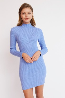 Finders Keepers ELIA KNIT MINI DRESS Blue