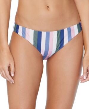 Thumbnail for your product : Raisins Juniors' Chasing The Sun Striped Lowrider Bikini Bottoms Women's Swimsuit
