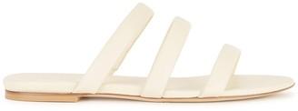 AEYDĒ Chrissy Cream Leather Sandals