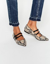 Asos LENS Pointed Ballet Flats