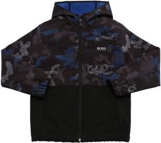 HUGO BOSS Camo Print Soft Shell Jacket W/ Hood