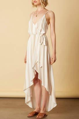 Cotton Candy Hi-Low Striped Dress