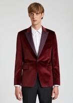 Thumbnail for your product : Paul Smith The Soho - Men's Tailored-Fit Damson Velvet Evening Blazer