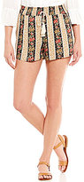 Rossmore by PPLA Delia Floral Printed Tie-Front Soft Shorts