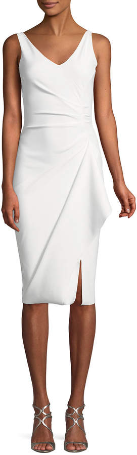 Chiara Boni Kloty Asymmetric Ruffle Cocktail Dress