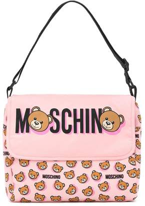 MOSCHINO BAMBINO Logo cotton changing bag