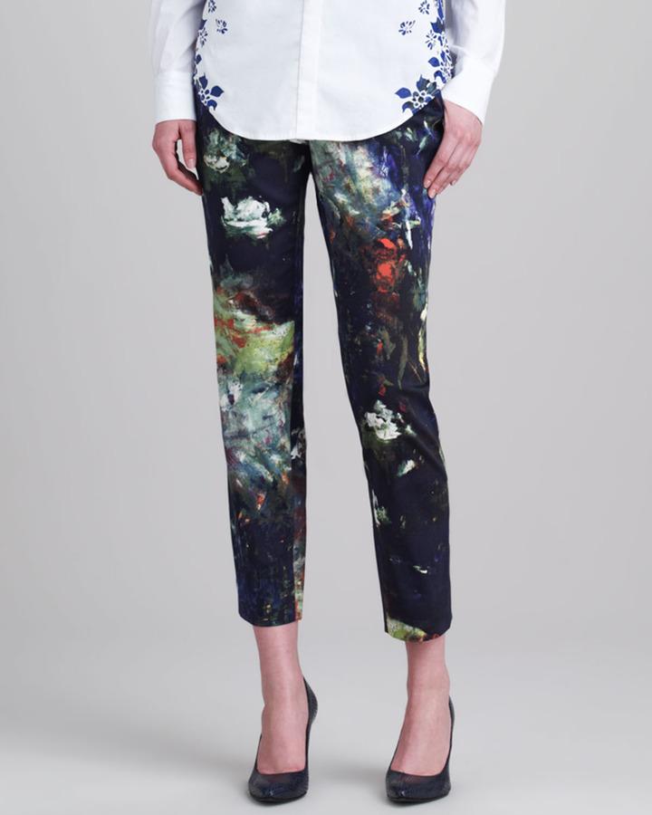 Lela Rose Skinny Printed Everyday Pants