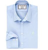 Thomas Pink Drake Plain Slim Fit Button Cuff Shirt