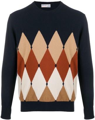 Ballantyne Diamond Pullover cashmere jumper