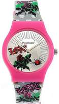 Pink Cookie Ladies-Girls Analogue Dial and PU Strap Watch PLC-0023