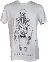 Zoe Karssen biker Skull White T-shirt