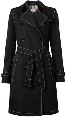 Burberry Topstitch Tropical Gabardine Trench Coat