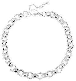 Kenneth Cole Silvertone Circle Link Necklace
