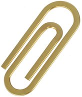 Gold Fitness Fashion Young Paperclip Money Clip & Credit Card Holder Mens Present Ideas for Fathers' Day By Epoint