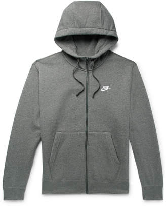 Nike Sportswear Club Melange Fleece-Back Cotton-Blend Jersey Zip-Up Hoodie