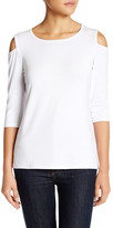 Loveappella Cold Shoulder Tee (Petite)