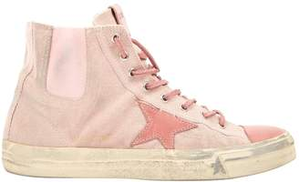 Golden Goose Pink Cloth Trainers