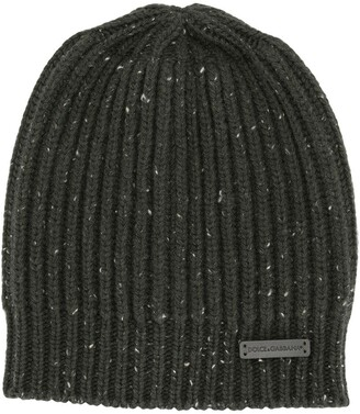 Dolce & Gabbana Kids Ribbed-Knit Beanie