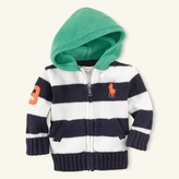 Hooded Striped Cardigan